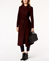 763e786cc7 Kenneth Cole Asymmetrical Belted Maxi Wool Coat
