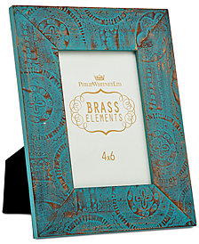 """Philip Whitney 4"""" x 6"""" Blue Washed & Embossed Picture Frame"""