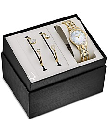 Women's Two-Tone Stainless Steel Bracelet Watch 32mm Gift Set