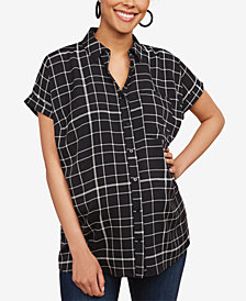 Motherhood Maternity Button-Front Blouse