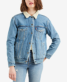 Levi's® Ex-Boyfriend Fleece Denim Jacket