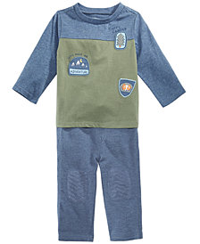 First Impressions Baby Boys Colorblocked Patches T-Shirt & Knee-Patch Pants, Created for Macy's