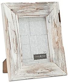 """Godinger Philip Whitney 5"""" x 7"""" White Barn Picture Frame"""
