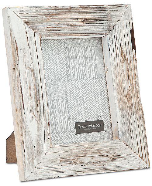 """Philip Whitney Godinger 5"""" x 7"""" White Barn Picture Frame"""