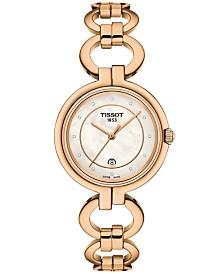 Tissot Women's Swiss T-Lady Flamingo Rose Gold-Tone Stainless Steel Bracelet Watch 26mm