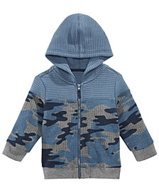 First Impressions Baby Boys Quilted Camo-Print Hoodie, Created for Macy's