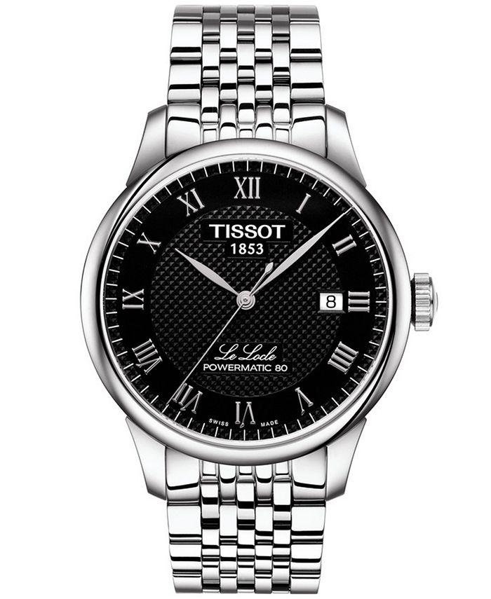 Tissot - Men's Swiss T-Classic Le Locle Powermatic 80 Gray Stainless Steel Bracelet Watch 39.3mm