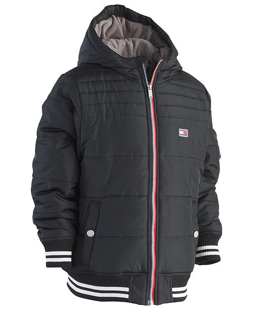 226a17127 Tommy Hilfiger Big Boys Bailey Hooded Puffer Jacket & Reviews ...
