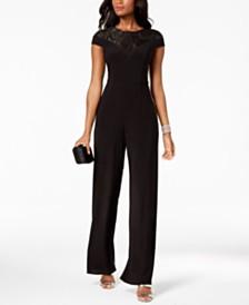 Adrianna Papell Sequined Jersey Jumpsuit, Regular & Petite