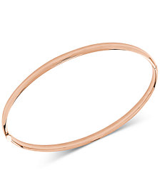 Polished Hinge Bangle Bracelet in 14k Rose Gold