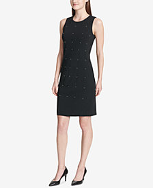 Calvin Klein Studded A-Line Sleeveless Dress