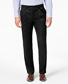 Men's Classic-Fit UltraFlex Stretch Micro-Twill Pleated Dress Pants