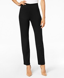 JM Collection Hollywood Ponte-Knit Pull-On Pants in Regular and Short Length, Created for Macy's