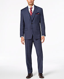 Lauren Ralph Lauren Men's Classic-Fit UltraFlex Stretch Blue Plaid Vested Suit
