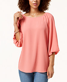 Charter Club Blouson-Sleeve Top, Created for Macy's
