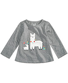 First Impressions Toddler Girls Llama-Print Cotton T-Shirt, Created for Macy's