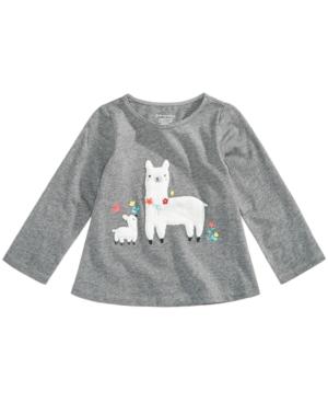 First Impressions Baby Girls LlamaPrint Cotton TShirt Created for Macys