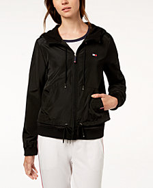 Tommy Hilfiger Sport Hooded Plaid Active Jacket
