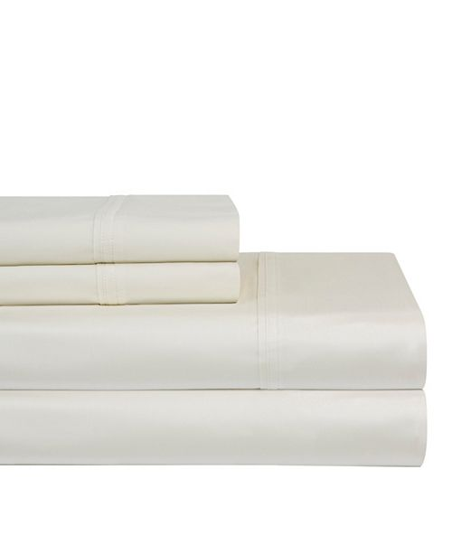 Pointehaven Solid 3 Pc. Twin XL Sheet Set, 400 Thread Count Cotton