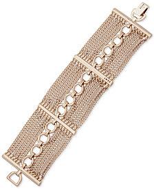 DKNY Gold-Tone Link & Mesh Flex Bracelet