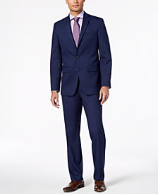 Van Heusen Flex Men's Slim-Fit Flex Stretch Bright Navy Solid Suit
