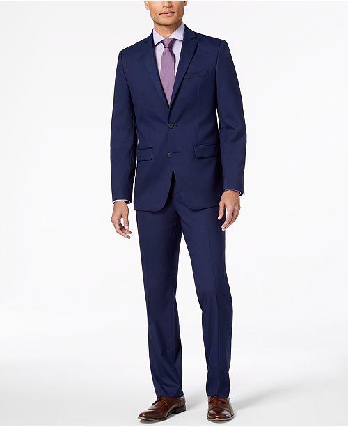 8279c597e94 ... Van Heusen Flex Men s Slim-Fit Flex Stretch Bright Navy Solid Suit ...