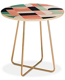 The Old Art Studio Abstract Geometric 08 Round Side Table