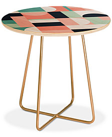 Deny Designs The Old Art Studio Abstract Geometric 08 Round Side Table
