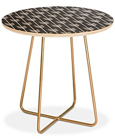 Holli Zollinger Arrows Grey Round Side Table