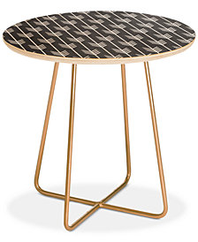 Deny Designs Holli Zollinger Arrows Grey Round Side Table