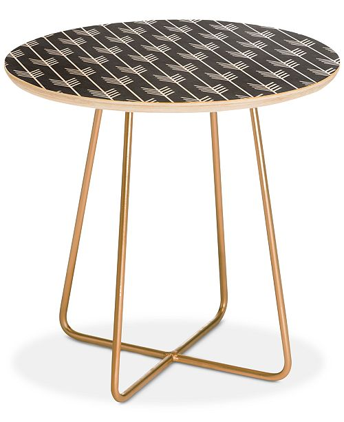 4154f60fe93 Deny Designs Holli Zollinger Arrows Grey Round Side Table Home