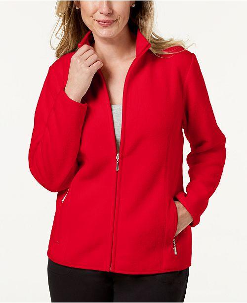 88000df7ebc ... Karen Scott Zeroproof Fleece Jacket