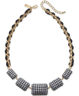 """I.N.C. Gold-Tone Tweed Link Cord Statement Necklace, 18-1/2"""" + 3"""" extender, Created for Macy's"""