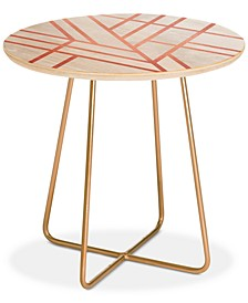 Elisabeth Fredriksson Art Deco Rose  Round Side Table