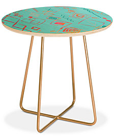 Deny Designs Iveta Abolina Tangier Villa II Round Side Table