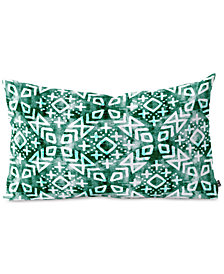 Deny Designs Little Arrow Design Co Modern Moroccan In Emerald Oblong Throw Pillow