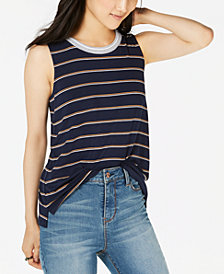 Hippie Rose Juniors' Striped Tank Top