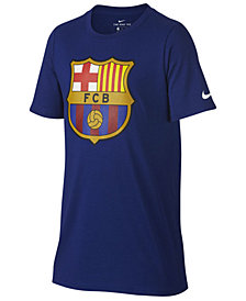 Nike FC Barcelona Club Team Evergreen Crest T-Shirt, Big Boys (8-20)