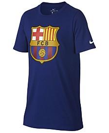 Nike FC Barcelona Club Team Evergreen Crest T-Shirt, Big Boys (8-20)