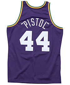 Mitchell & Ness Men's Pete Maravich New Orleans Jazz Hardwood Classic Swingman Jersey