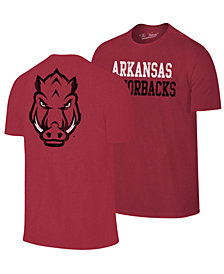 Retro Brand Men's Arkansas Razorbacks Team Stacked Dual Blend T-Shirt