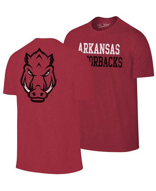 Retro Brand Men's Arkansas Razorbacks Team Stacked Dual Blend T-Shirt