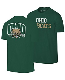 Retro Brand Men's Ohio Bobcats Team Stacked Dual Blend T-Shirt