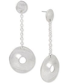 Robert Lee Morris Soho Silver-Tone Disc Drop Earrings