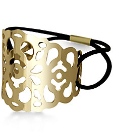 GUESS Gold-Tone Openwork Ponytail Holder