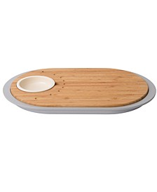 Leo Collection 2-sided Bamboo Tapas Cutting Board with Tray
