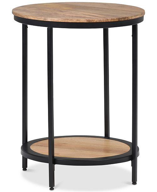 Furniture Nickman Round Side Table, Quick Ship