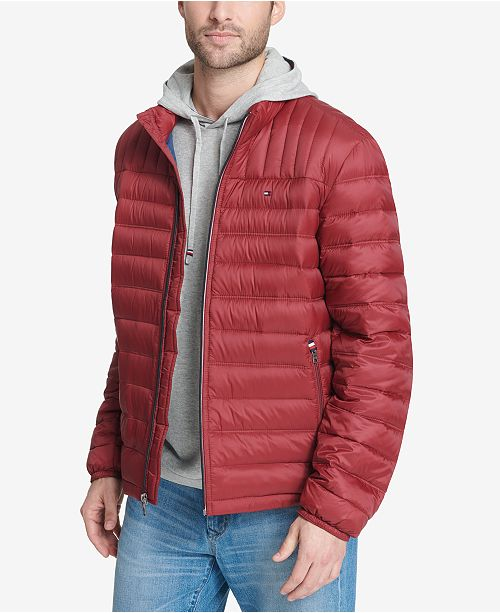 d09e2303f Men's Down Quilted Packable Logo Jacket