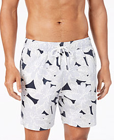 "Tommy Hilfiger Men's 6 1/2"" Floral Swim Trunks, Created for Macy's"