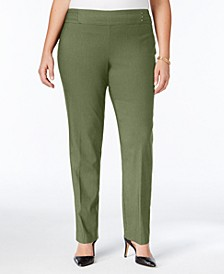 Plus & Petite Plus Size Tummy Control Slim-Leg Pants, Created for Macy's
